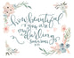 How Beautiful You Are - Lettered Print