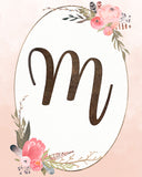 Custom Initial Print - Girls Monogram Nursery Decor
