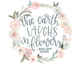 The Earth Laughs in Flowers - Delicate Feminine Girls Room Art