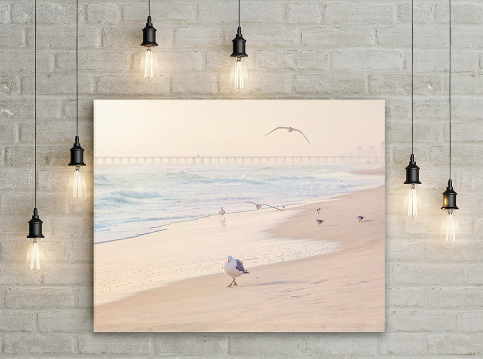 Leader of the Flock - Beach Wall Art with Seagulls