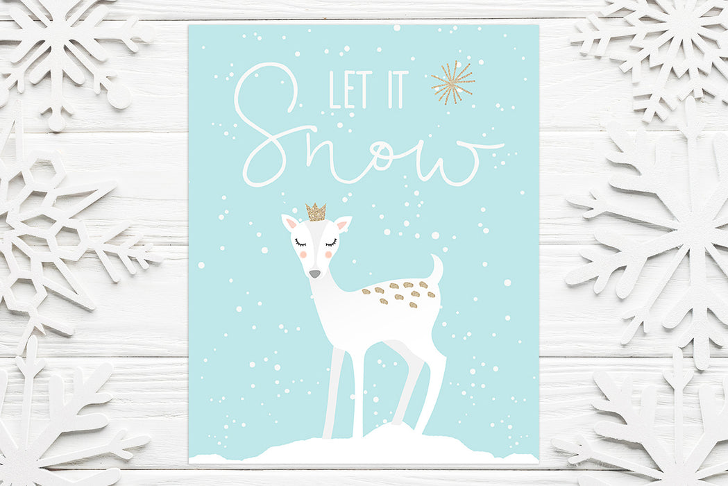 Let it Snow - Lettered Print