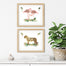 Set of Two Girls Jungle Nursery Prints