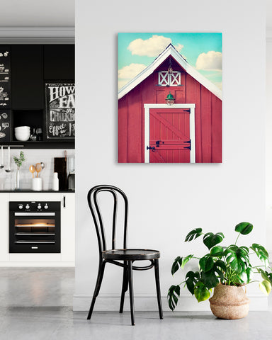Little Red Coop - Farmhouse Wall Art for your Rustic Kitchen Decor