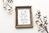 Love Never Fails - Lettered Print