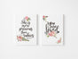 Vintage Girls Nursery Set of Two - Canvas Wraps