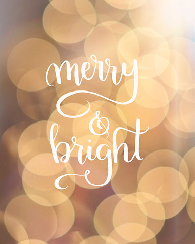 Merry and Bright - Holiday Wall Art