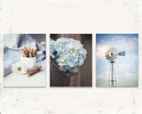 Moody Blue Farmhouse Print Set of Three