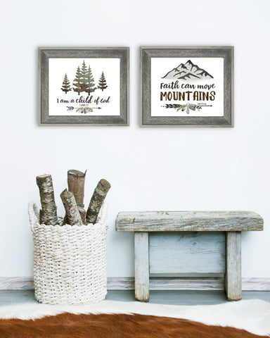 Rustic Boys Wall Art Set of Two