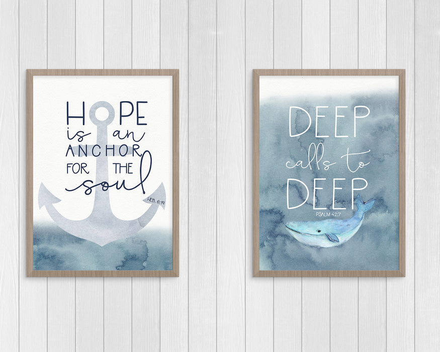 Set of Two Nautical Boys Nursery Prints