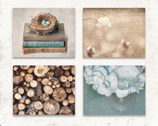 Farmhouse Chic Print Set of Four