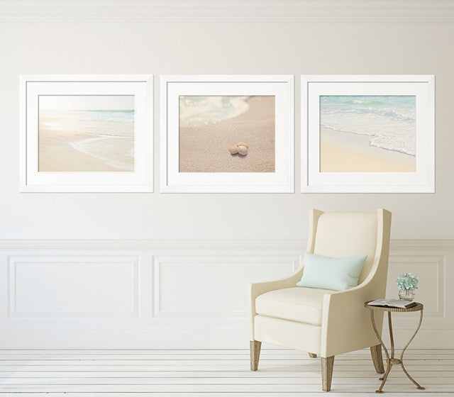 Soothing Neutral Beach Print Set of Three