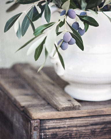 Olives in Ironstone - Rustic Farmhouse Wall Art