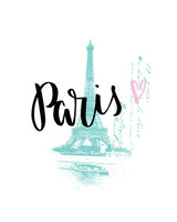 Paris - Lettered Print