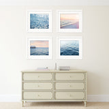 Peach and Blue Beach Set of Four