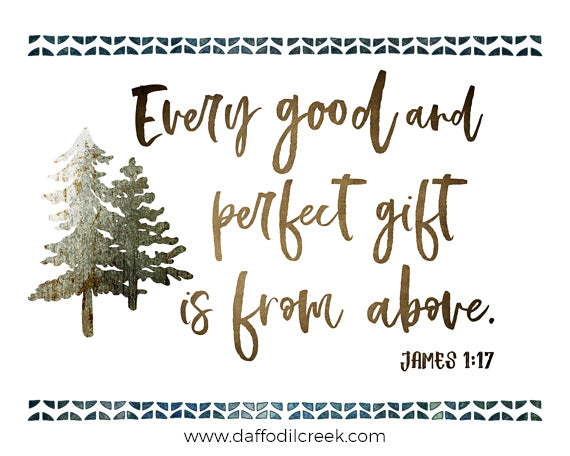 Woodland Nursery Art with Rustic Bible Verse