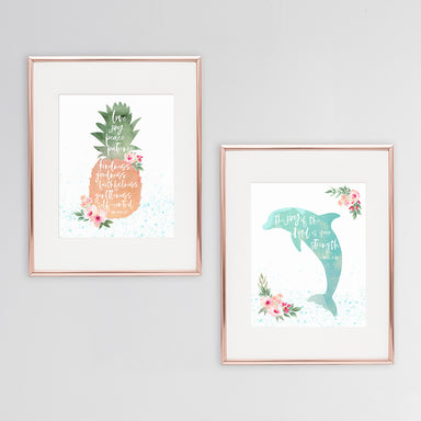 Tropical Nursery Prints for Girls - Set of Two