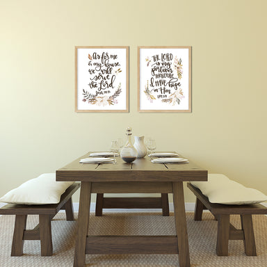 Neutral Kitchen Print Set of Two Bible Verse Prints