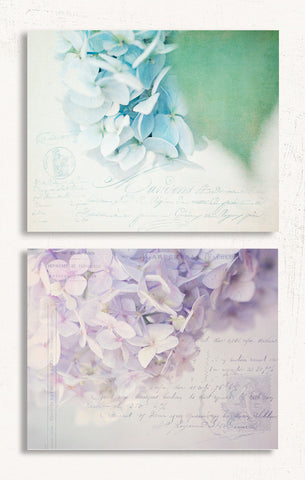 Purple and Blue Set of Two Prints