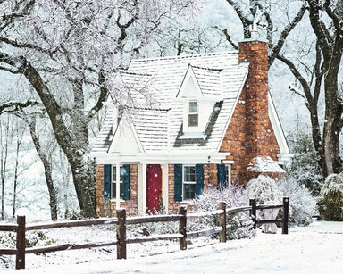 Quaint Cottage - Snowy Landscape Photo