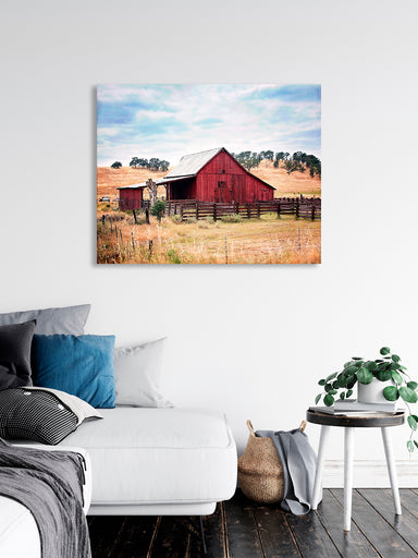 Red Barn - Rustic Barn Wall Art