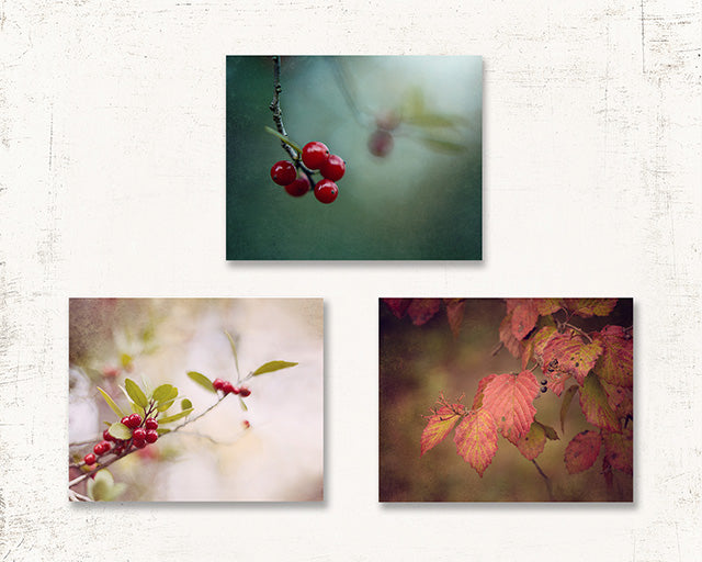 Fall Leaf Print Set of Three