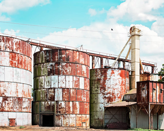Red Silos - Industrial Farmhouse Wall Art