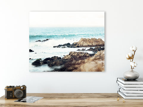 Rocky Shores - Rustic Coastal Wall Art for your Beach House Decor