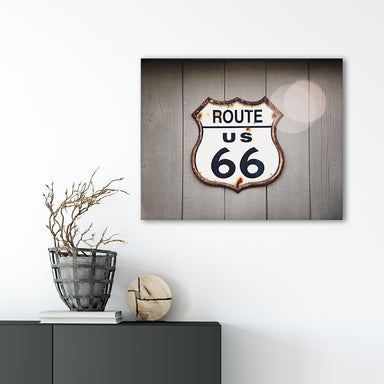 Route 66 - Rustic Farmhouse Wall Art