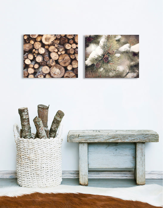 Rustic Pine Print Set of Two