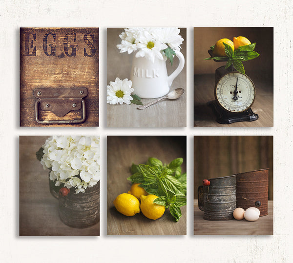 Rustic Yellow Kitchen Set of Six