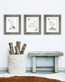 Whimsical Christmas Print Set of Three