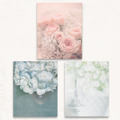 Shabby Chic Print Set of Three