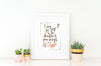 Rustic Desert Nursery Print for Girls