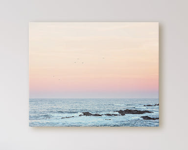 Simple Dreams - Pastel Sunrise Beach Photo