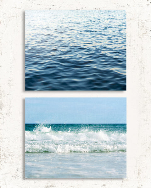 Soft Blue Beach Set of Two