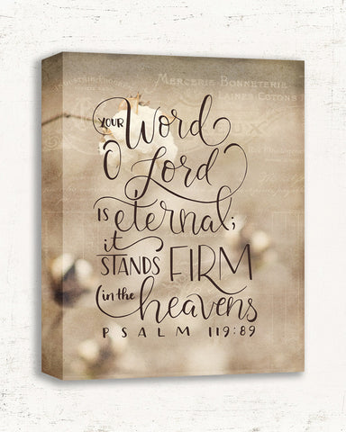 Stands Firm - Bible Verse Wall Art