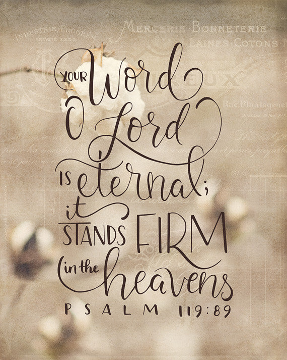 Stands Firm - Bible Verse Wall Art – Daffodil Creek