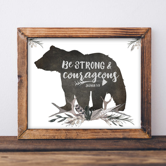 Be Strong and Courageous - Lettered Print