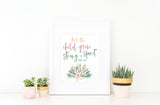 Girls Tribal Nursery Print