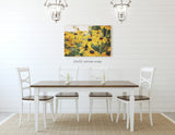 Summer Susans - Rustic Yellow Kitchen Wall Decor