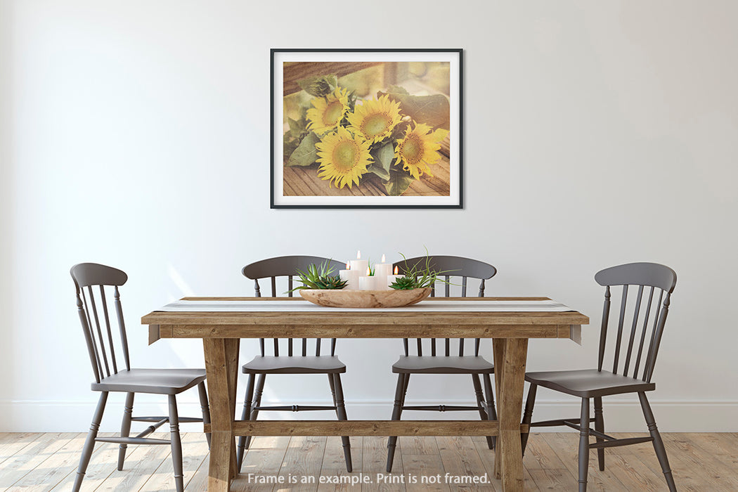 Sunflowers - Country Chic Wall Art for your Rustic Home Decor