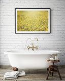 Tangled - Rustic Yellow Flower Art