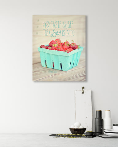 Taste and See - Bible Verse Wall Art for your Kitchen or Dining Room
