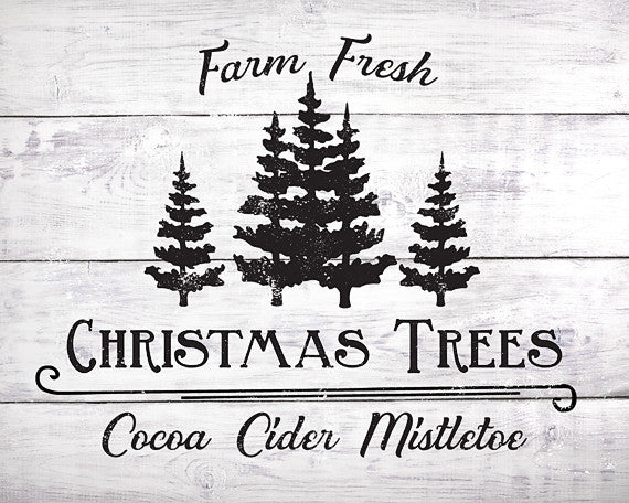 Farm Fresh Christmas Trees - Lettered Print