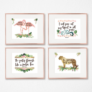 Girls Jungle Safari Gallery Wall Set