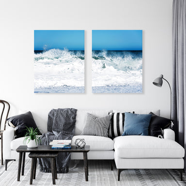 Whipped Cream - Set of Two Pacific Ocean Wave Prints