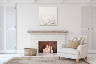 Whispers - Modern Pastel Succulent Wall Art