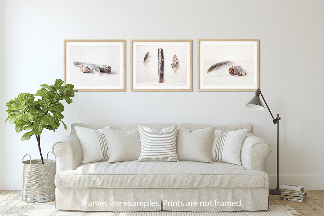 White Wall Art Set of Three