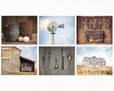 Barn and Windmill Dining Room Gallery Wall Set