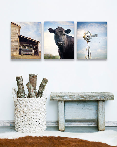 Farmhouse Windmill Set of Three